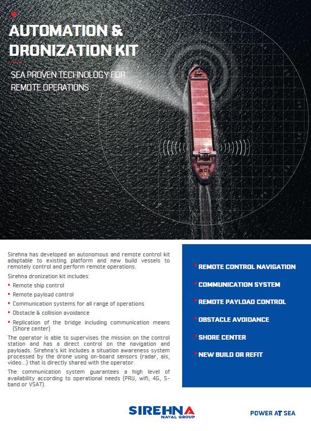 Automation kit USV Sirehna
